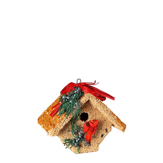 Bird-Feeder-Castle-House-with-Red-Cardinal