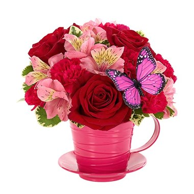 """Cup of Love"" flowers (BF382-11KMBP)"